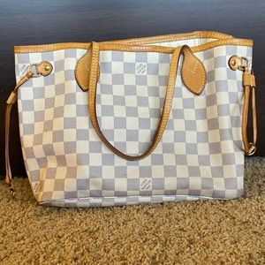 Louis Vuitton Damier Azur Neverfull Handbag